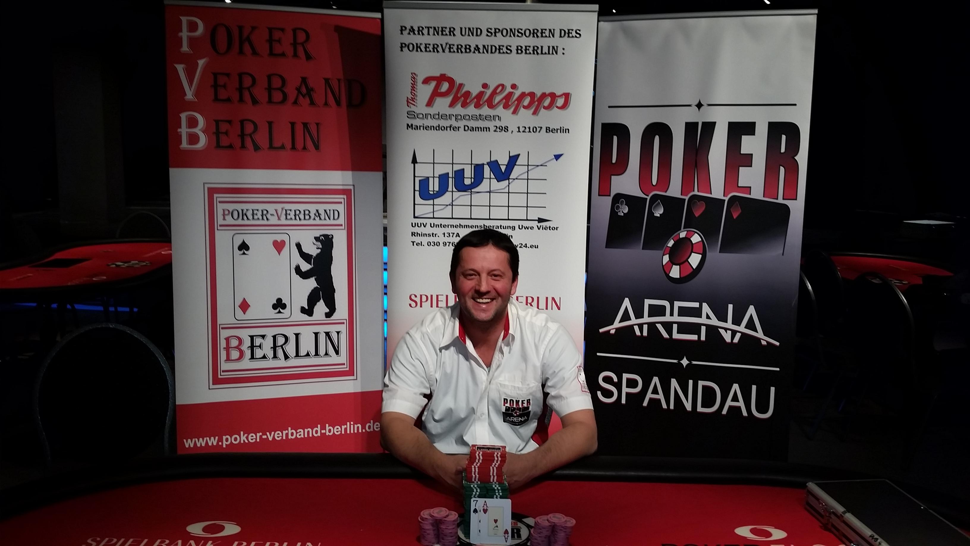 Der Gewinner : Rade Vitomir von der PokerArena Spandau e.V.