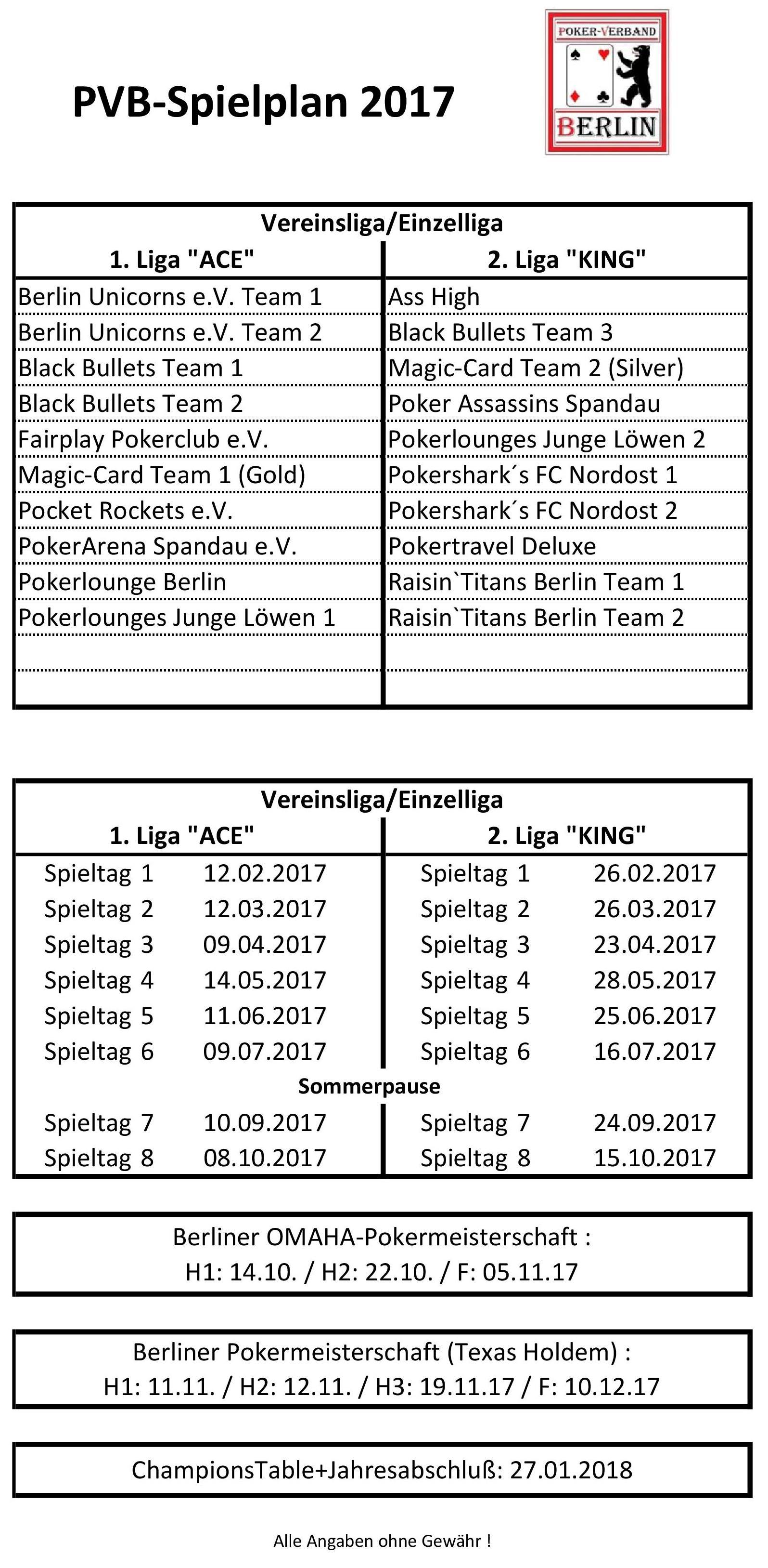 PVB-Spielplan 2017