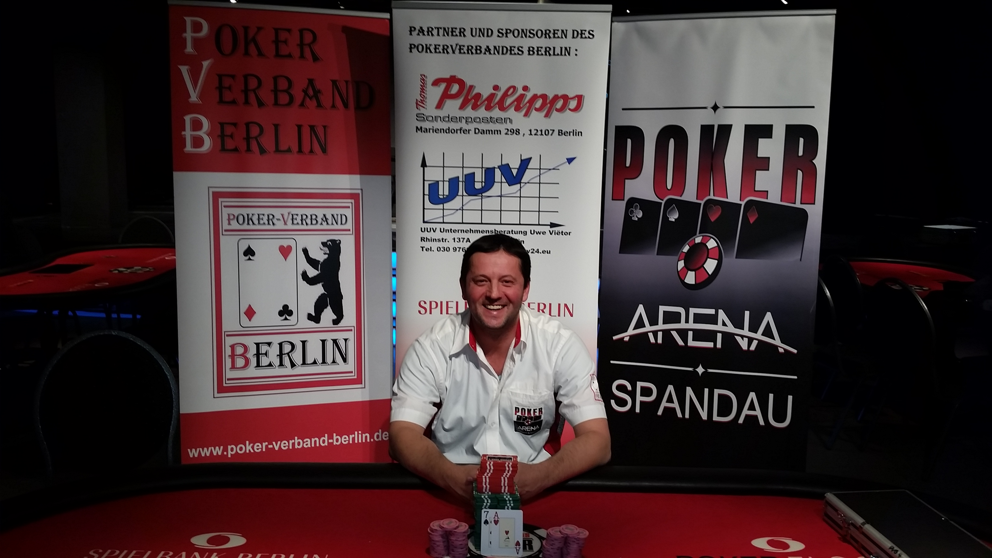 Berliner Pokermeister 2016 des PVB : Rade Vitomir von der PokerArena Spandau e.V.