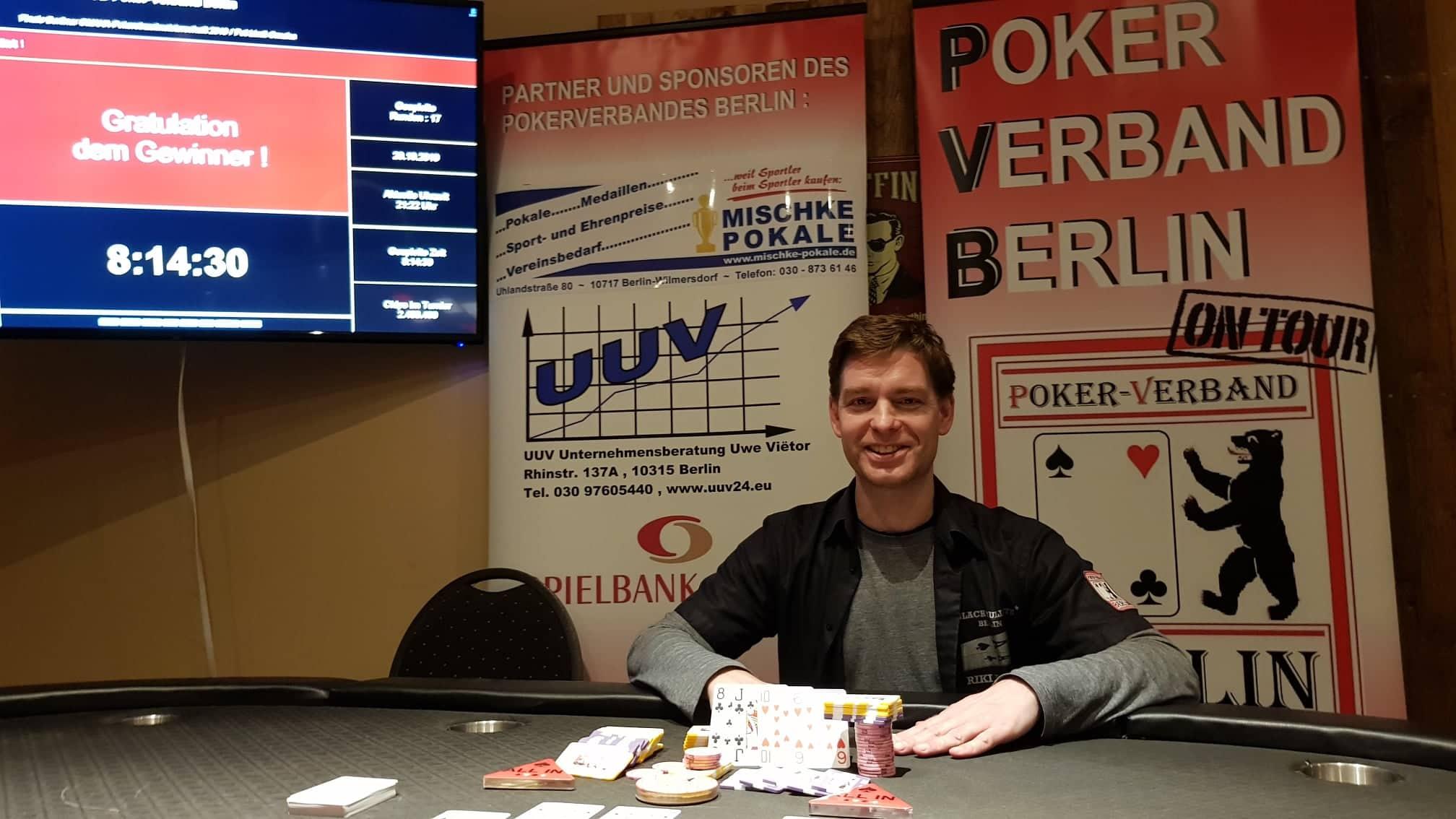 Finale der PVB-Omaha-Pokereinzelmeisterschaft 2019 / Der Sieger