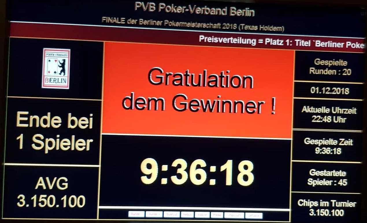 Poker Verband Berlin
