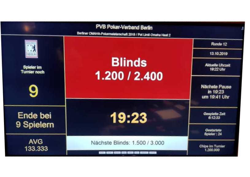 Ende PVB-Omaha-Pokereinzelmeisterschaft 2019 Heat 2